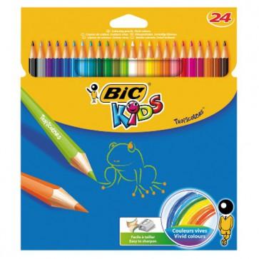 Etui 24 crayons de couleur TROPICOLOR2 (version sans bois). Couleurs vives, Ref BIC 832568