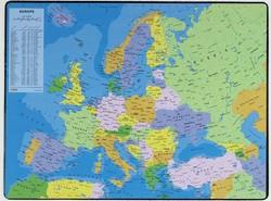 Sous main carte d' Europe plastique souple