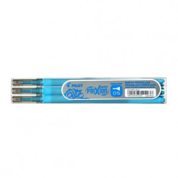 Recharges  roller gel Frixion fines 0,5mm BLEU TURQU recharge frixion 0,5 mm