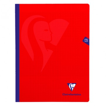 Cahier polypro 24 x 32 cm rouge 192 p.