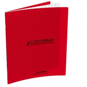 Cahier maternelle 32 pages en 90g. à grands carreaux Séyes 2,5 mm, couverture plastique PP. Référence Hamelin  : 400002780