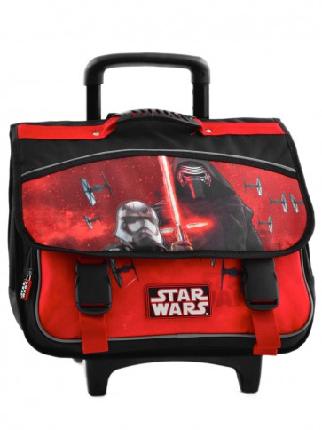 Cartable a roulettes 2 compartiments Star wars