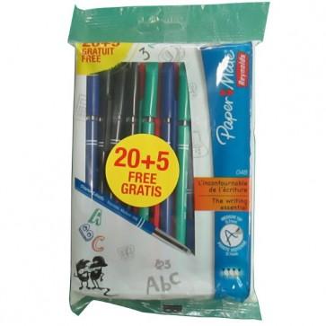 lot de 20 stylo bille papermate