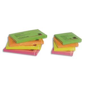 Bloc repositionnable de 100 feuilles 76 x 76mm coloris néon assortis 5ET