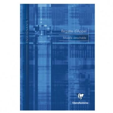 Registre d' appel journalier  A4 ; modèle détachable en 28 pages reliées en piqûres ; avec marges EXTERNES micro-perforées REF. Clairefontaine 3039C