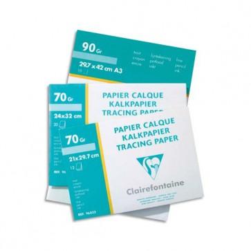 Pochette de papier calque 70gr 12 feuilles A4 Réf. Clairefontaine 96853C