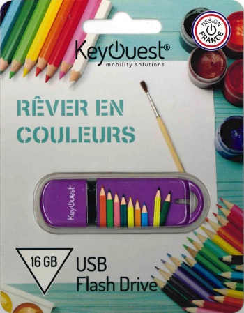 Clé USB 16 GB CRAYON KeyOuest