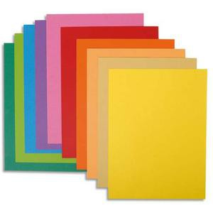EXACOMPTA Paquet de 10 chemises en carte 210 grammes coloris assortis