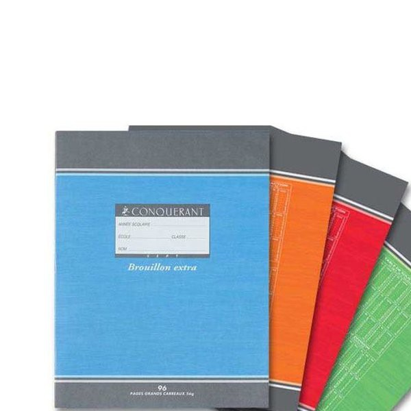 Cahier de brouillon 17x22 cm 96 pages grands carreaux for Dulong bayonne