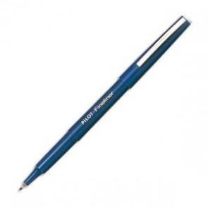 Stylo feutre pointe fine baguée métal encre bleue corps plastique couleur FINELINE