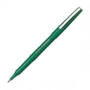 Stylo feutre pointe fine baguée métal encre verte corps plastique couleur FINELINER