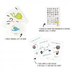 Kit éducatif 800 clips CLIP IT 2D et 3D