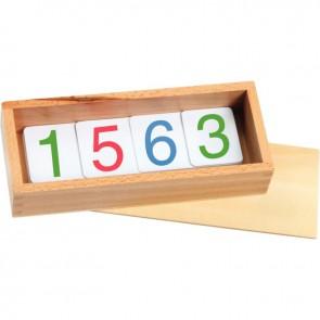 Cartes des nombres en plastique, gamme économique