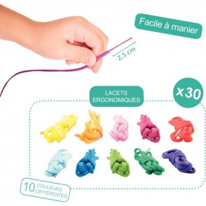 Sachet de 30 lacets 101cm coloris assortis