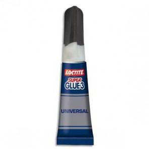 SUPER GLUE Colle instantanée liquide en tube de 3g SUPERGLUE3