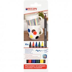 Pochette de 6 feutres porcelaine céramique couleurs primaires