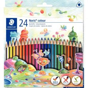 Etui de 24 crayons de couleur Noris colour triangulaire couleurs assorties