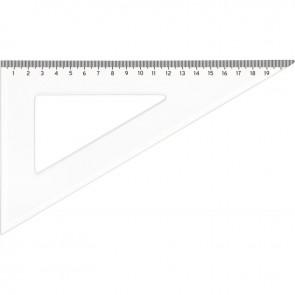 Équerre cristal 21cm 60° graduation à 0