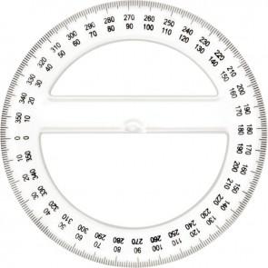 Rapporteur cristal 360 degrés 12cm