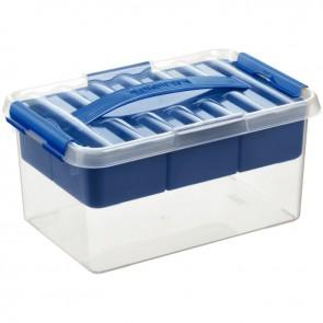 Boîte de rangement compartimentée transparent 6 litres