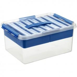 Boîte de rangement compartimentée transparent 15 litres