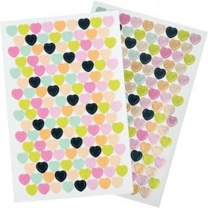 Pochette de 2 720 gommettes coeur