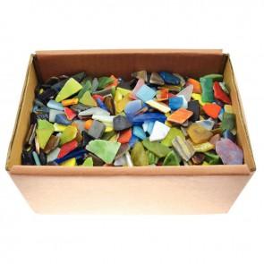 Carton de 2 kg éclats de mosaïques en verre