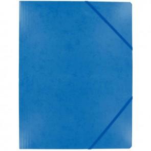 Chemise sans rabat à élastiques en carte lustrée 5/10ème format 24x32 cm coloris bleu