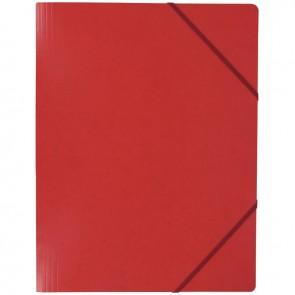 Chemise sans rabat à élastiques en carte lustrée 5/10ème format 24x32 cm coloris rouge