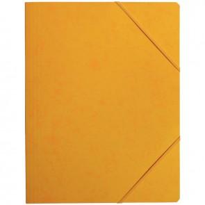 Chemise sans rabat à élastiques en carte lustrée 5/10ème format 24x32 cm coloris jaune