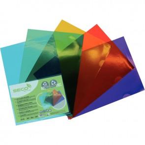Sachet de 25 pochettes coin en polypropylène recyclable, coloris assortis