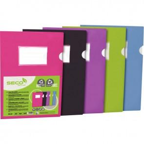 Sachet de 5 pochettes coin en polypropylène opaque recyclable, coloris assortis