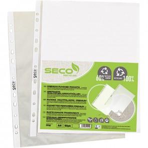 Sachet de 50 pochettes perforées en polypropylène recyclable 8/100ème