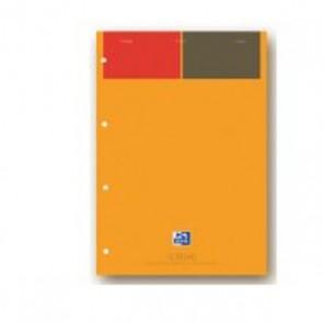 Bloc de cours 100 de feuilles ou 200 pages 90g. avec réglure Seyès détachables par le haut