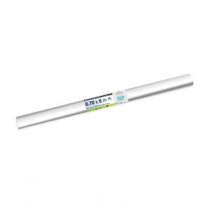 Couvre-livre en rouleaux de 2 m x 70 cm transparent non adhésif en film de 80 microns d'épaisseur en PVC (très résistant).