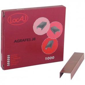 Boîte de 1000 agrafes J8 cuivrées