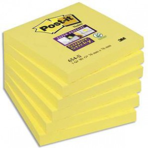 Notes Super Sticky jaune, format 76x76mm, 90 feuilles