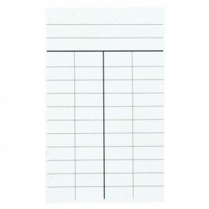 Paquet de 1000 fiches de prêt, 4 colonnes dimensions : 12,5 x 7,5 cm