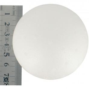 Lot de 5 boules polystyrène blanches 70 mm
