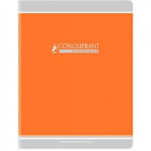 Cahier d'apprentissage piqûre 32 pages, format 17 x 22 cm, réglure maternelle double ligne 3 mm avec interligne, verticale et marge: DL3IV