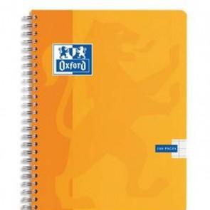 Cahier spiralé 100 pages, grands carreaux en A4 : 21 x 29,7cm Couverture carte.