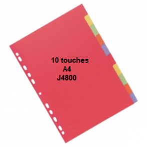 Intercalaires 10 touches A4 J4800
