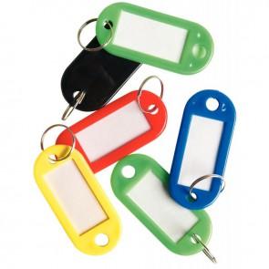 Sachet de 20 portes-clés avec étiquettes