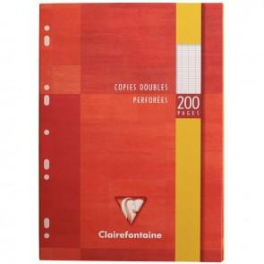 Étui de 50 copies doubles perforées (200 pages) format 21x29,7 cm séyès 90g blanc