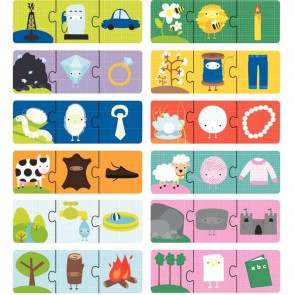 Boite de 12 puzzles 3 pièces, l'origine des choses