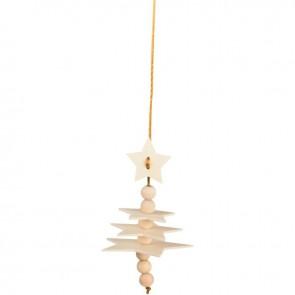 Lot de 3 suspensions étoiles 3D en bois