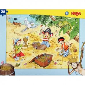 Puzzle à cadre 25 pièces, les pirates
