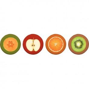 Set de 4 coussins fruits n°1 d 40cm