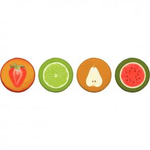 Set de 4 coussins fruits n°2 d 40cm