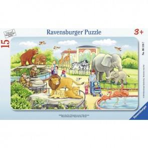 Puzzle à cadre 15 pièces, excursion au zoo